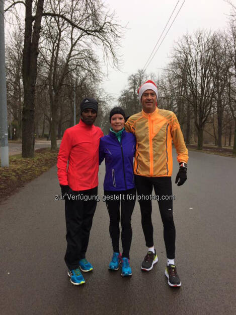 Lemawork Ketema, Tanja Bauer, Harald Fritz (24.12.2016)