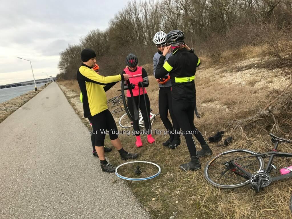 Reifenplatzer an der windigsten Stelle überhaupt (26.12.2016)