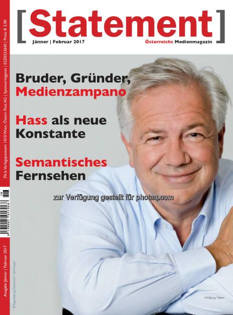 Wolfgang Fellner, Österreichischer Journalisten Club: Journalismus an den Grenzen (Bild: Tageszeitung Österreich/Kernmayer), © Aussender (02.01.2017)