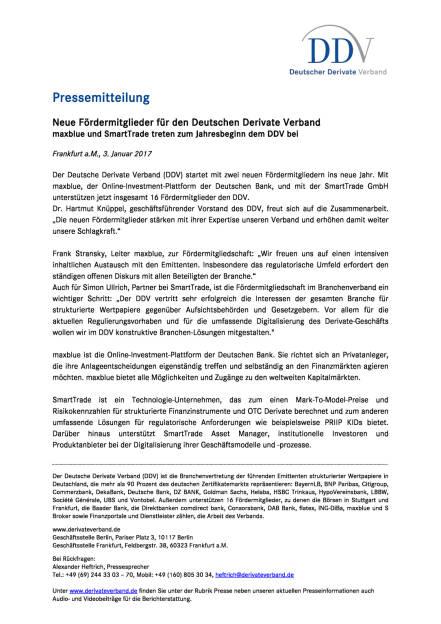 Neue Fördermitglieder für den Deutschen Derivate Verband, Seite 1/1, komplettes Dokument unter http://boerse-social.com/static/uploads/file_2043_neue_foerdermitglieder_fur_den_deutschen_derivate_verband.pdf (03.01.2017)