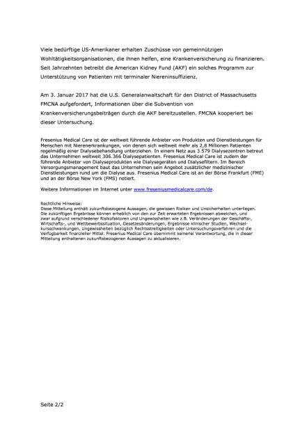 Fresenius Medical Care schließt sich gemeinsamer Klage in USA an, Seite 2/2, komplettes Dokument unter http://boerse-social.com/static/uploads/file_2045_fresenius_medical_care_schliesst_sich_gemeinsamer_klage_in_usa_an.pdf (07.01.2017)