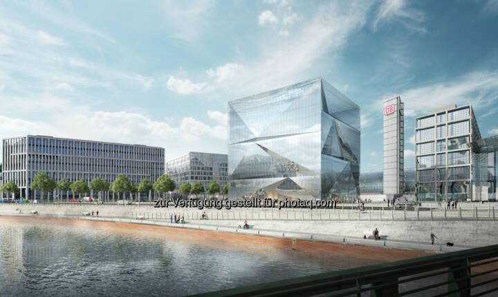 Cube Berlin, Europacity Blick von der Spree (c) CA Immo