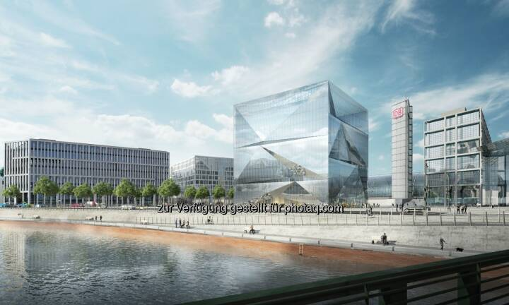 Bürogebäude cube Berlin am Hauptbahnhof - CA Immobilien Anlagen AG: CA Immo verkauft Büroprojekt in Berliner Top-Lage (Fotocredit: CA Immo)