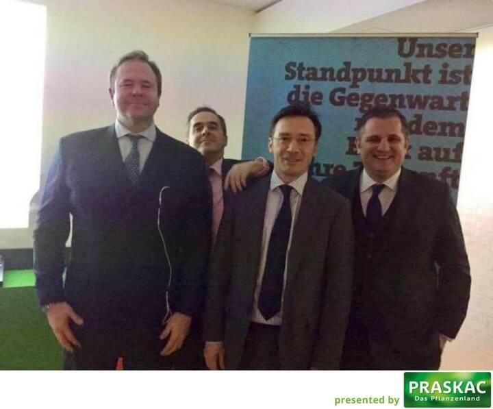 Mit Klaus Umek, Wolfgang Matejka, Roland Neuwirth und Eduard Berger bei der Wiener Privatbank