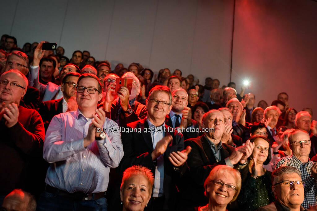 Rede von Christian Kern (SPÖ) in der Messehalle in Wels, Publikum (Bild: SPÖ), © SPÖ Presse und Kommunikation (13.01.2017)