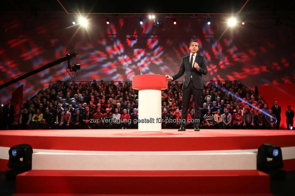 Rede von Christian Kern (SPÖ) in der Messehalle in Wels (Bild: SPÖ), © SPÖ Presse und Kommunikation (13.01.2017)