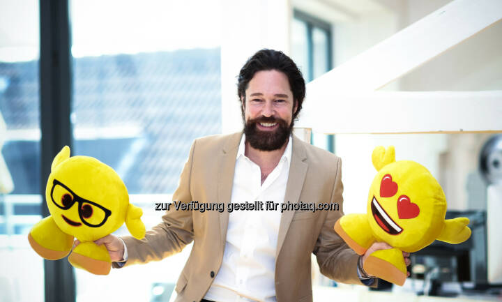 Marco Hüsges, Geschäftsführer emoji Company: emoji Company GmbH: emoji company GmbH verkündet Vereinbarung mit Sony Pictures Animation über den Film The Emoji Movie (C) emoji Company