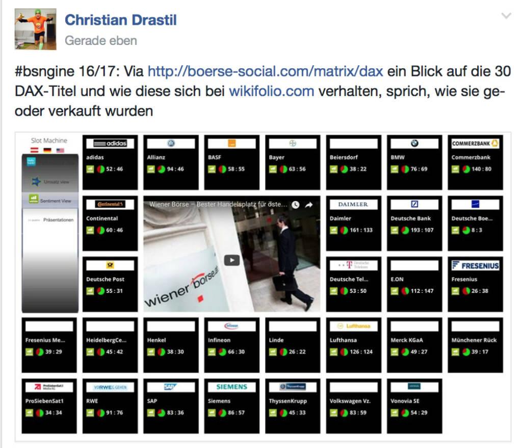 Wie die DAX30 Titel bei @wikifolio gehandelt werden @drastil http://www.boerse-social.wien (17.01.2017)
