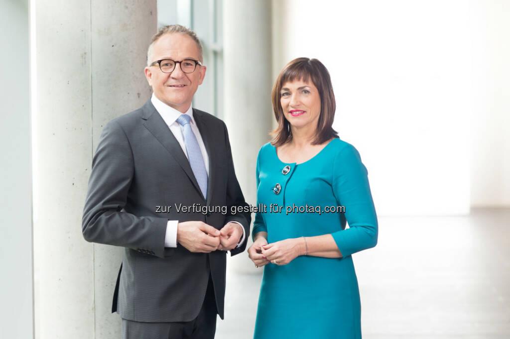 Raimund Ribitsch und Doris Walter - Fachhochschule Salzburg GmbH: FH Salzburg: Die Hochschule für Technik, Gesundheit und Medien (Fotocredit: FH Salzburg/Marco Riebler)