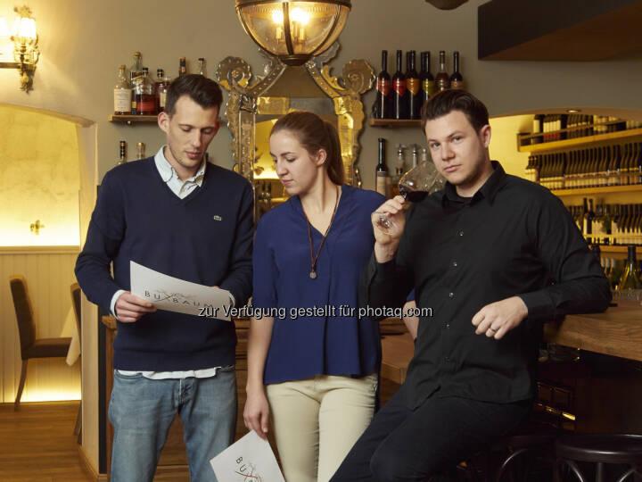 Daniel Kellner, Anna Andert, Benjamin Buxbaum - Zingerle Communications e.U.: BUXBAUM Restaurant – historisches Gewölbe, neuer Küchenchef (Fotocredit: Restaurant BUXBAUM)
