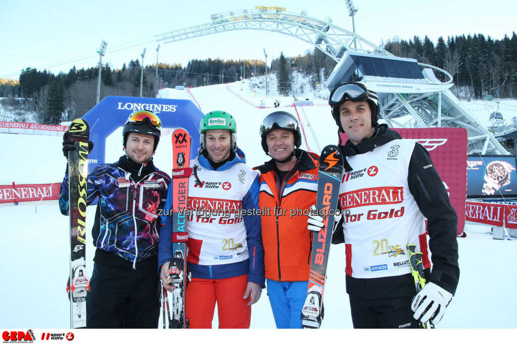 Ski for Gold Charity Race. Image shows Reinfried Herbst, Manfred Pranger, managing director Harald Bauer (Sporthilfe) and Mario Matt. Photo: GEPA pictures/ Harald Steiner (26.01.2017)