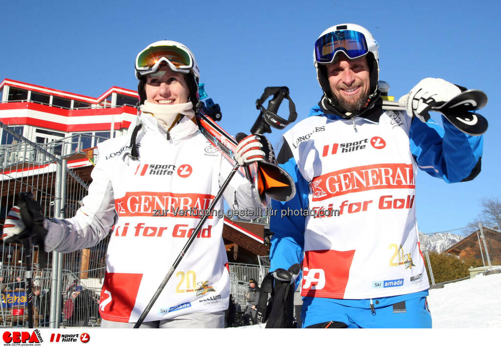 Ski for Gold Charity Race. Image shows Brigitte Kliment-Obermoser and Marco Buechel. Photo: GEPA pictures/ Harald Steiner (26.01.2017)