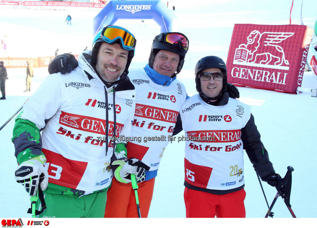 Ski for Gold Charity Race. Image shows Michael Kummerer, Herwig Straka and Christian Scheuch. Photo: GEPA pictures/ Harald Steiner (26.01.2017)