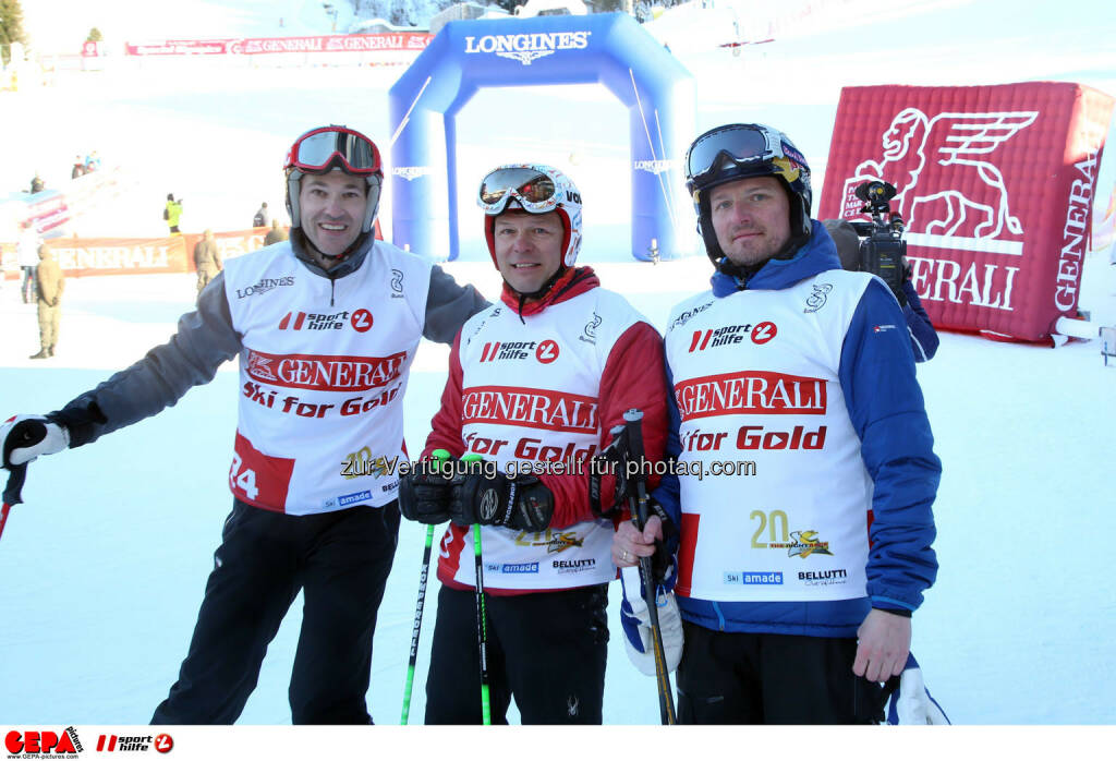 Ski for Gold Charity Race. Image shows Christoph Stadler, Christian Reslhuber and Herwig Langganger. Photo: GEPA pictures/ Harald Steiner (26.01.2017)