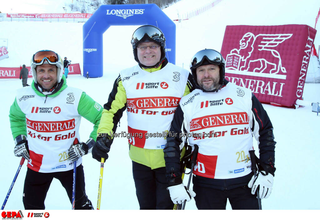 Ski for Gold Charity Race. Image shows Hannes Zeichen, Gerhard Weswaldi and Reinhard Schuetter. Photo: GEPA pictures/ Harald Steiner (26.01.2017)