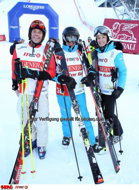 Ski for Gold Charity Race. Image shows Andreas Grossek, Horst Felbermayr and Andrea Felbermayr. Photo: GEPA pictures/ Harald Steiner (26.01.2017)