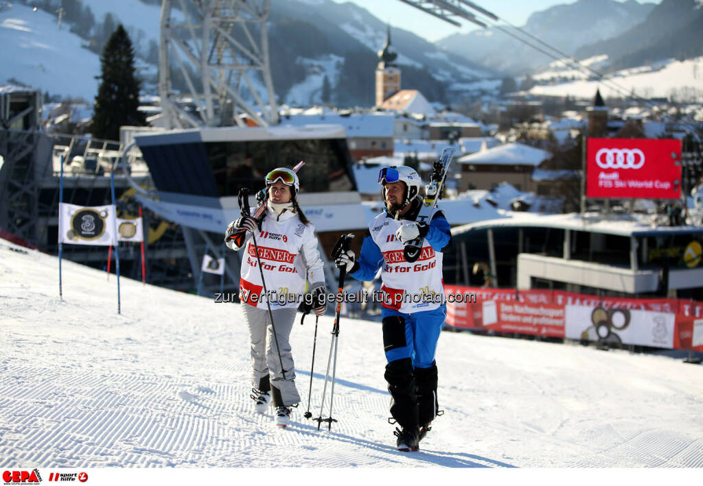 Ski for Gold Charity Race. Image shows Brigitte Kliment-Obermoser and Marco Buechel. Photo: GEPA pictures/ Daniel Goetzhaber (26.01.2017)