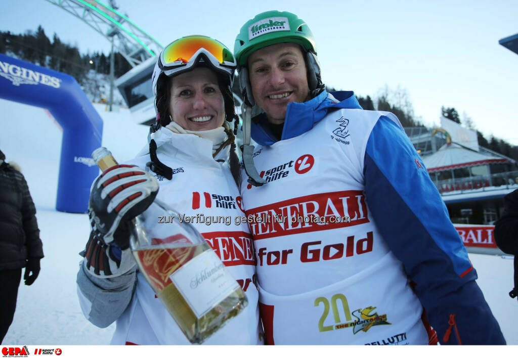 Ski for Gold Charity Race. Image shows Brigitte Kliment-Obermoser and Manfred Pranger. Photo: GEPA pictures/ Daniel Goetzhaber (26.01.2017)