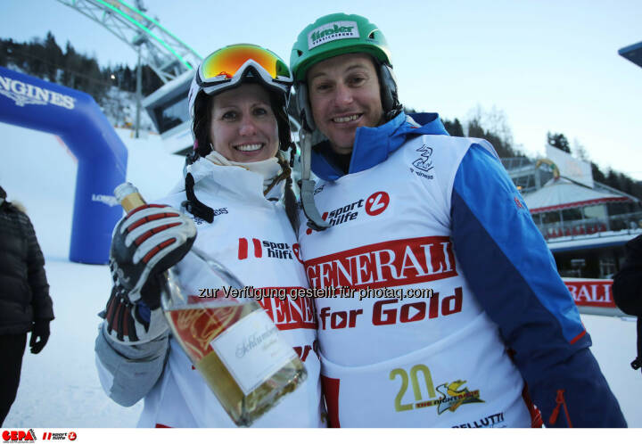 Ski for Gold Charity Race. Image shows Brigitte Kliment-Obermoser and Manfred Pranger. Photo: GEPA pictures/ Daniel Goetzhaber