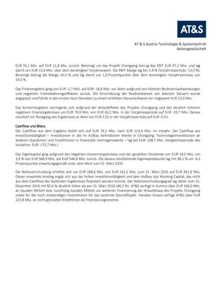 AT&S in den ersten neun Monaten mit Umsatzplus und operativen Verbesserungen im neuen Werk in China (Geschäftsjahr 2016/17), Seite 2/4, komplettes Dokument unter http://boerse-social.com/static/uploads/file_2079_ats_in_den_ersten_neun_monaten_mit_umsatzplus.pdf (30.01.2017)