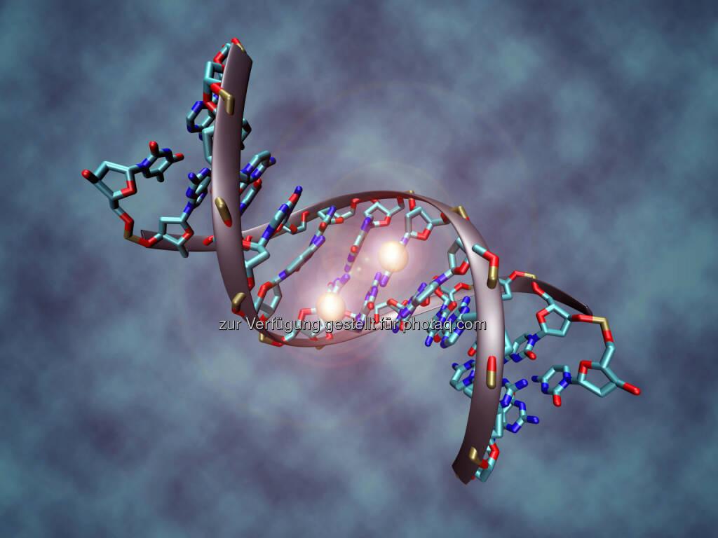 Künstlerische Darstellung eines methylierten DNA-Moleküls - St. Anna Kinderkrebsforschung e.V.: Epigenetik erklärt Vielfalt von Kinderkrebs (Fotocredit:Christoph Bock / CeMM), © Aussendung (31.01.2017)