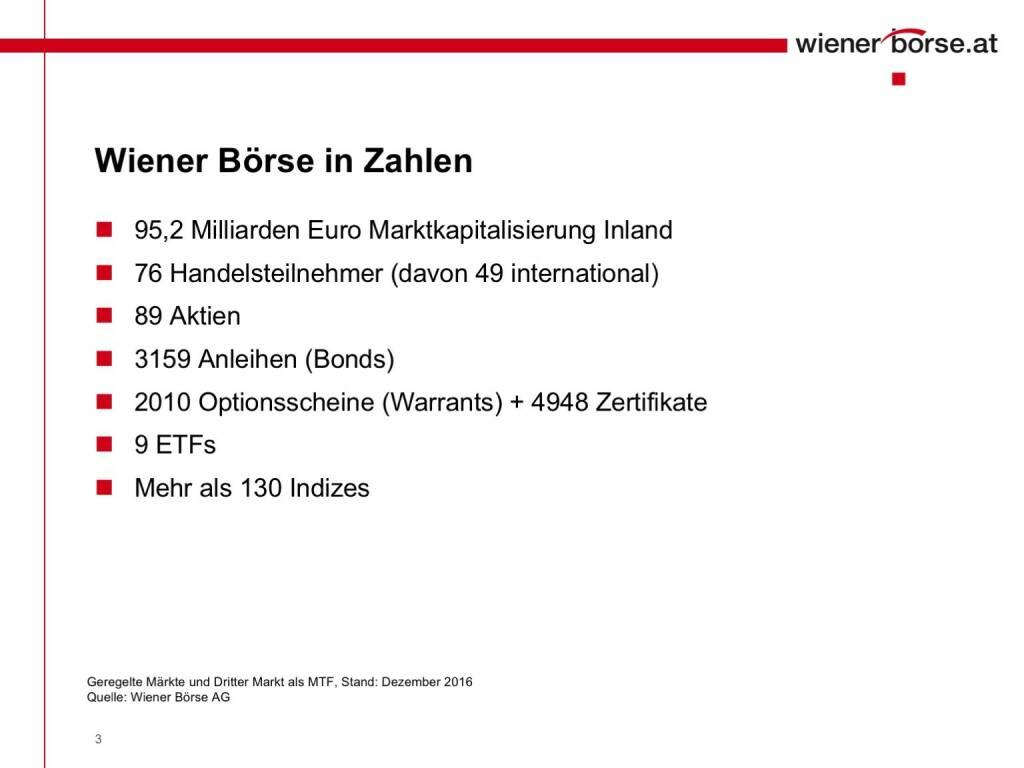Wiener Börse in Zahlen (01.02.2017)