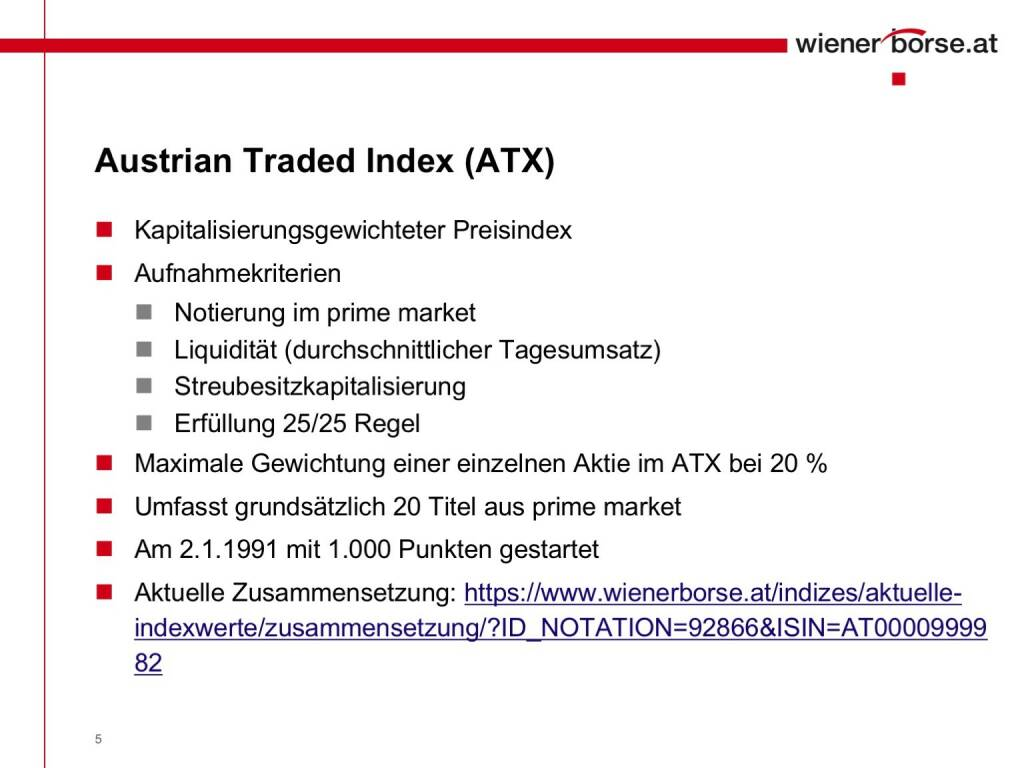 Wiener Börse - Austrian Traded Index ATX (01.02.2017)