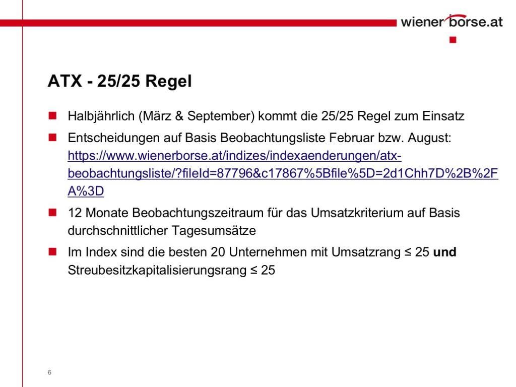 Wiener Börse - ATX 25/25 Regel (01.02.2017)