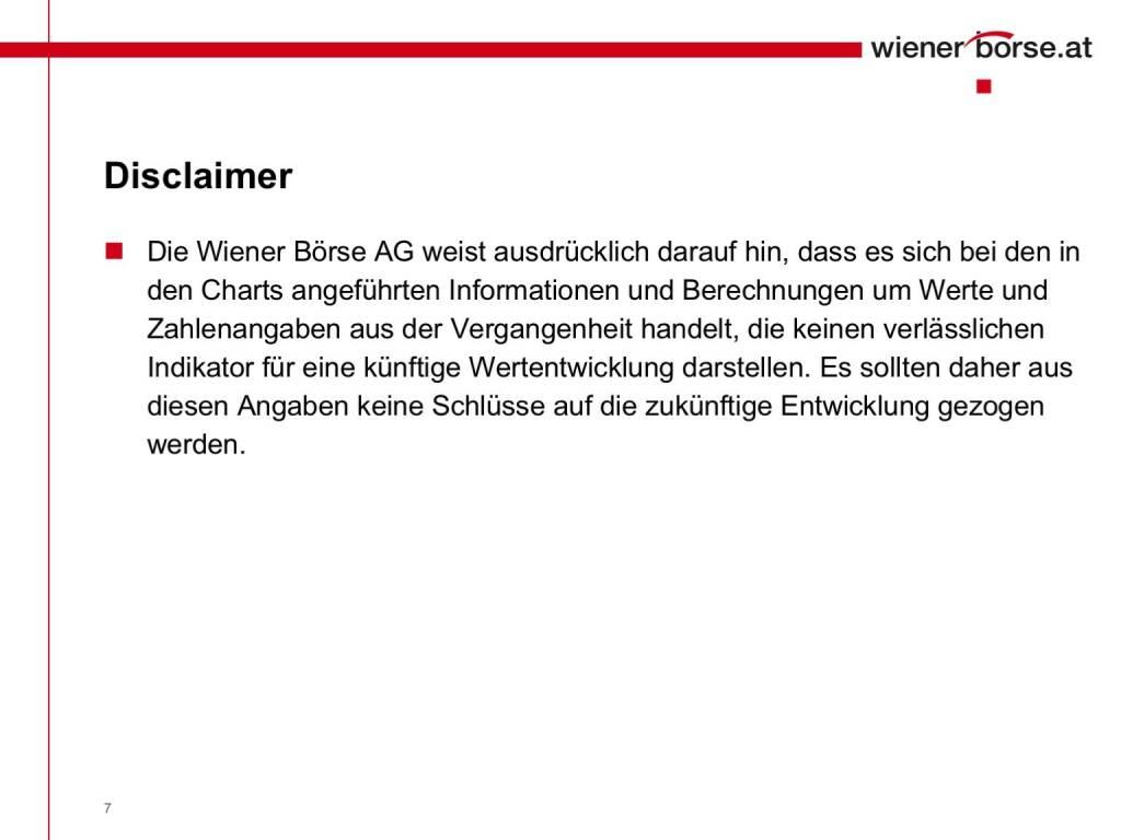 Wiener Börse - Disclaimer (01.02.2017)