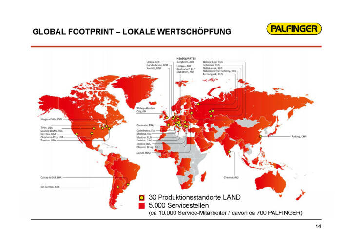Palfinger - Global Footprint