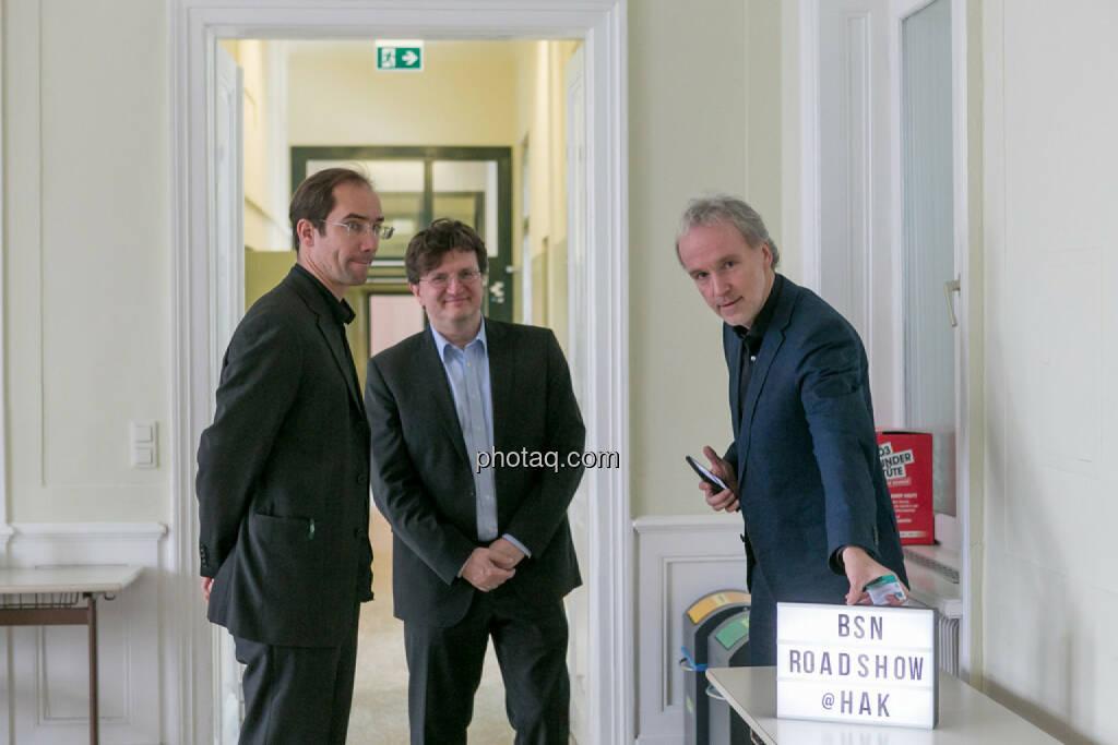Johannes Lindner (Schumpeter HAK), Christian Drastil (BSN), © Martina Draper/photaq (01.02.2017)