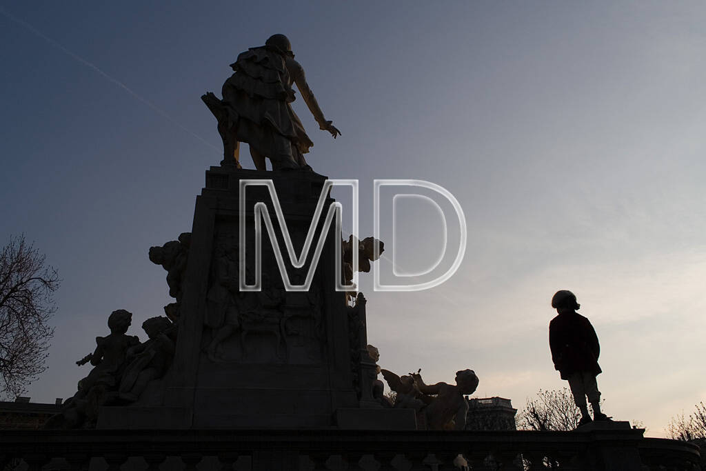 Mozart am Mozartdenkmal, © Martina Draper (10.05.2013)