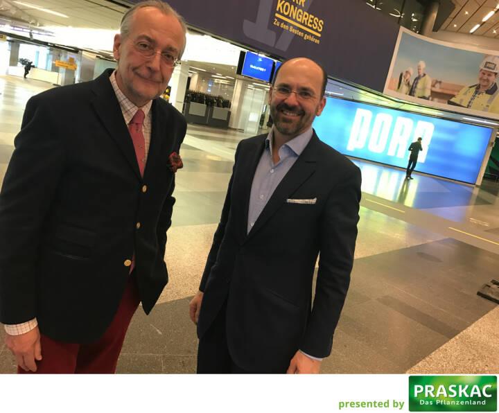 Mit Manfred Waldenmair (be public) und Christian B. Maier (Porr-Vorstand)