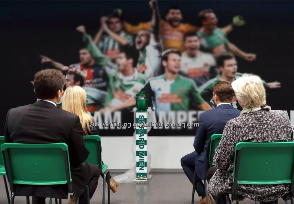 """Eventbestattung KG: """"Grün-weiß bis über den Tod hinaus…."""" - Trauerfeier für Rapid-Fans im neuen Allianz Stadion. (Fotocredit: Eventbestattung), © Aussender (06.02.2017)"""