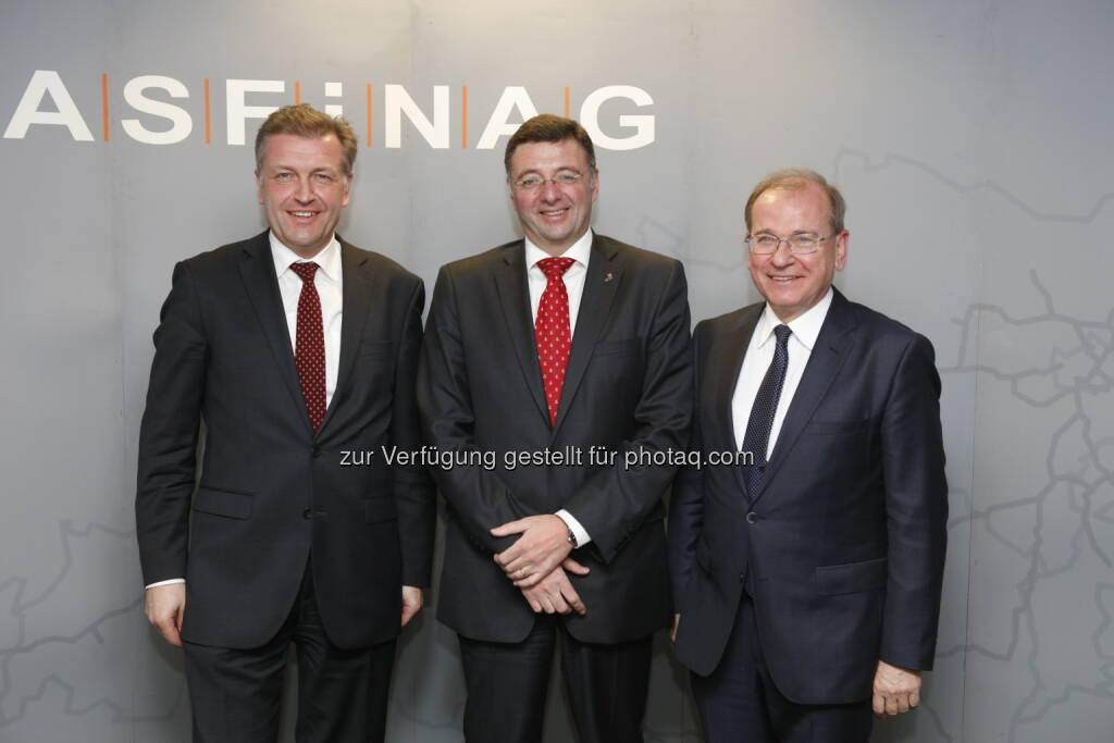VS Schierhackl, BM Leichtfried, VS Schedl: Asfinag: Asfinag investiert 2017 mehr als eine Milliarde Euro in Autobahnen und Schnellstraßen, © Aussender (06.02.2017)