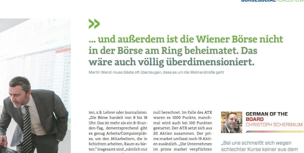 Martin Wenzl erklärt, German of the Board Christoph Scherbaum kommentiert (08.02.2017)