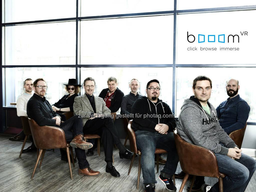 Gruppenfoto booomVR Team - vrei media gmbh: VR Webbrowser wird vorgestellt (Fotocredit: Philipp Horak), © Aussender (08.02.2017)