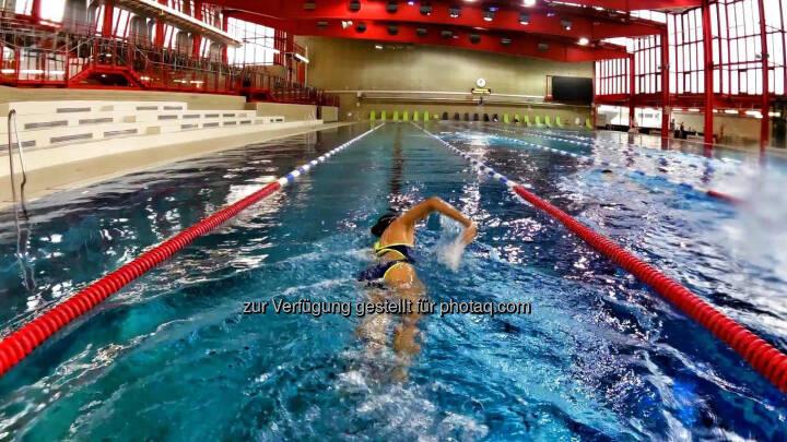 Monika Kalbacher, schwimmen, Stadthalle