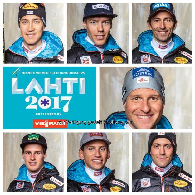 Our Team for Lahti2017: Bernhard Gruber, Mario Seidl, David Julian Pommer, Philipp Orter, Willi Denifl, Paul Gerstgraser, Franz-Josef Rehrl #roadtolahti#austriapowerteam #nordiccombinedaut #lahti2017 (12.02.2017)