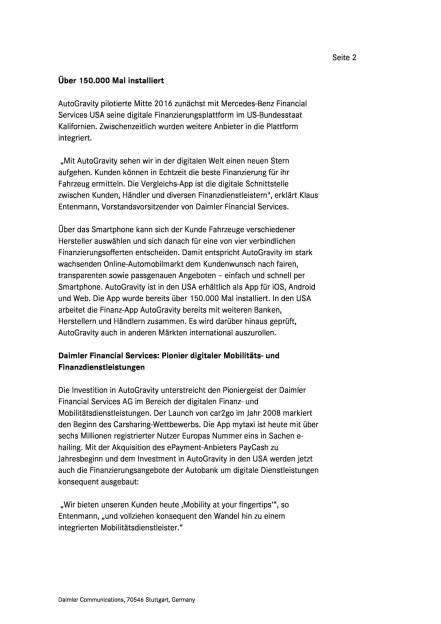 Daimler Financial Services investiert in Smartphone-App für Autofinanzierung, Seite 2/4, komplettes Dokument unter http://boerse-social.com/static/uploads/file_2109_daimler_financial_services_investiert_in_smartphone-app_fur_autofinanzierung.pdf (14.02.2017)