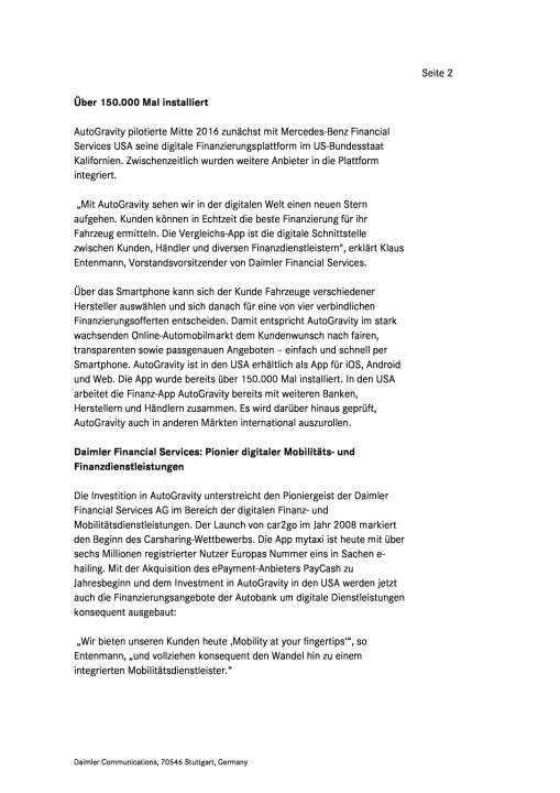 Daimler Financial Services investiert in Smartphone-App für Autofinanzierung, Seite 2/4, komplettes Dokument unter http://boerse-social.com/static/uploads/file_2109_daimler_financial_services_investiert_in_smartphone-app_fur_autofinanzierung.pdf