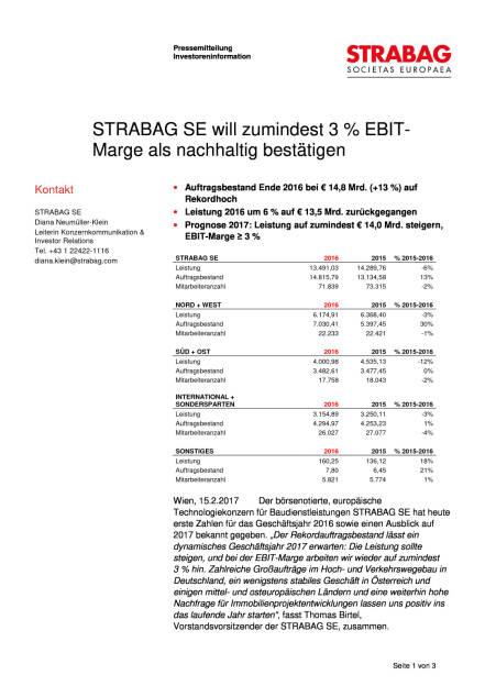 Strabag will zumindest 3 Prozent EBIT-Marge als nachhaltig bestätigen, Seite 1/3, komplettes Dokument unter http://boerse-social.com/static/uploads/file_2111_strabag_will_zumindest_3_prozent_ebit-marge_als_nachhaltig_bestatigen.pdf (15.02.2017)