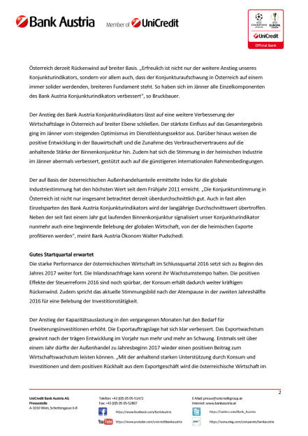 Bank Austria Konjunkturindikator: Aufschwung in Österreich verstärkt sich, Seite 2/5, komplettes Dokument unter http://boerse-social.com/static/uploads/file_2112_aufschwung_in_osterreich_verstarkt_sich.pdf (15.02.2017)