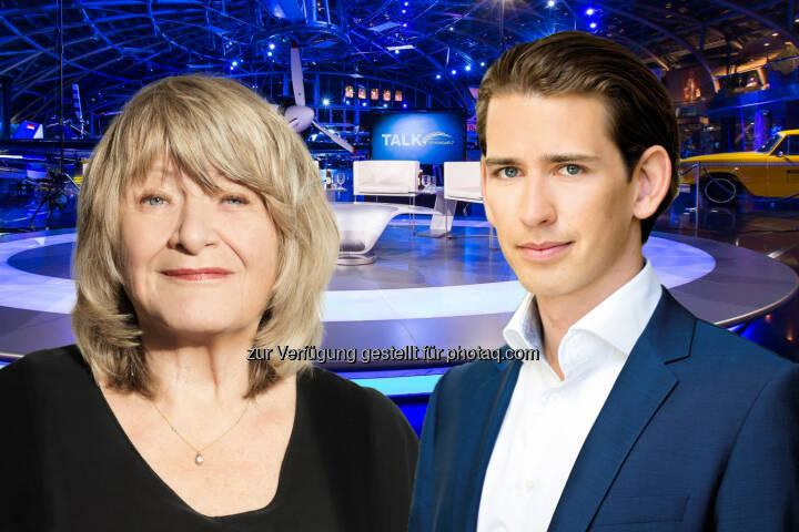 Alice Schwarzer und Sebastian Kurz sind morgen zu Gast beim Talk im Hangar-7 - ServusTV: Kopftuchverbot: ja/nein? (Fotocredit: ServusTV / Flitner / ÖVP / Matern)