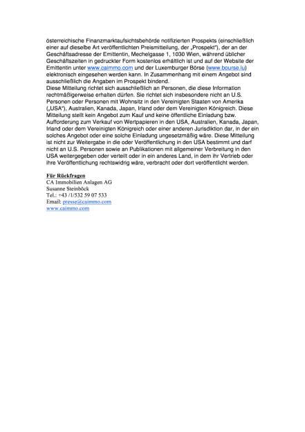 CA Immo begibt 175 Mio. € Unternehmensanleihe 2017-2024, Seite 2/2, komplettes Dokument unter http://boerse-social.com/static/uploads/file_2113_ca_immo_begibt_175_mio_unternehmensanleihe_2017-2024.pdf (15.02.2017)