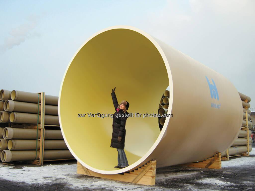 WIG Wietersdorfer Holding GmbH: HOBAS Rohre für Wasserkraftwerk in Kärnten (Fotocredit: HOBAS), © Aussendung (16.02.2017)