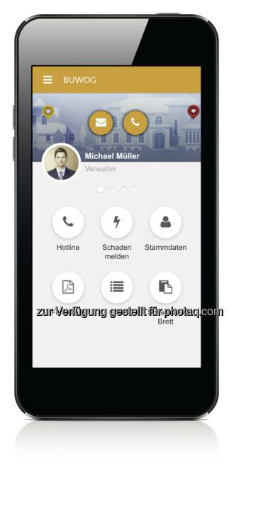 Buwog Mieter-App Dashboard (Fotocredit: Buwog)