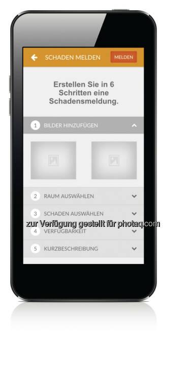 Buwog Mieter-App Schadensmeldung (Fotocredit: Buwog)
