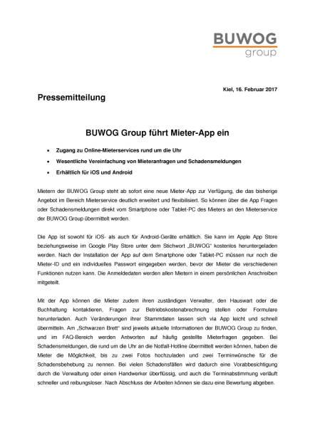 Buwog Group führt Mieter-App ein, Seite 1/2, komplettes Dokument unter http://boerse-social.com/static/uploads/file_2116_buwog_group_fuhrt_mieter-app_ein.pdf (16.02.2017)