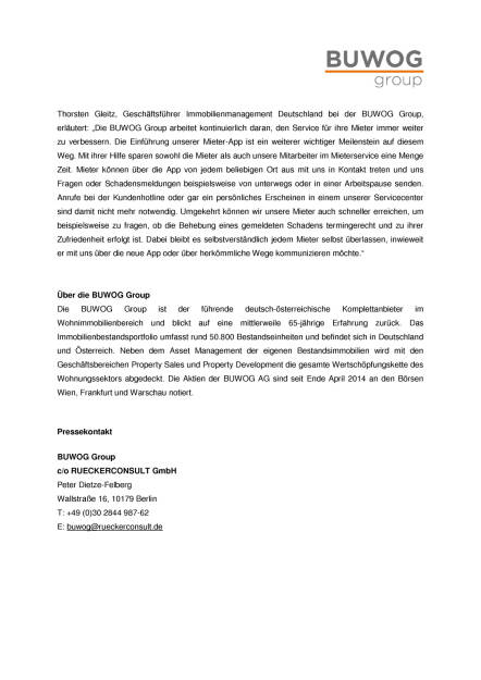Buwog Group führt Mieter-App ein, Seite 2/2, komplettes Dokument unter http://boerse-social.com/static/uploads/file_2116_buwog_group_fuhrt_mieter-app_ein.pdf (16.02.2017)